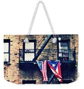 Two Flags In Washington Heights Weekender Tote Bag