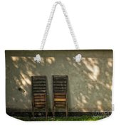 Two Folded Sun Chairs Weekender Tote Bag