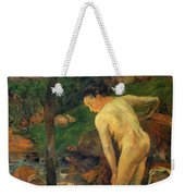 Two Girls Bathing 1887 Weekender Tote Bag