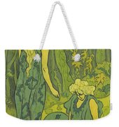 Two Girls Next To The Head Of Orpheus Weekender Tote Bag