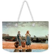 Two Girls On The Beach Weekender Tote Bag
