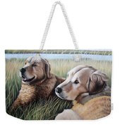 Two Golden Retriever Weekender Tote Bag