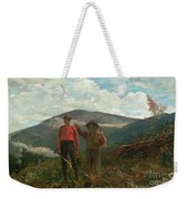 Two Guides Weekender Tote Bag by Winslow Homer