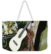 Two Guitars On A Shoe Chair Weekender Tote Bag