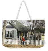Two Handed Dog Walk Weekender Tote Bag