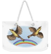 Two Happy Birds Weekender Tote Bag