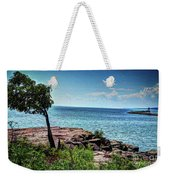 Two Harbors North Pierhead Light Weekender Tote Bag