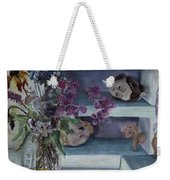 Two Heads With Bouquet Weekender Tote Bag