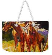 Two Horse Town Weekender Tote Bag