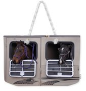 Two Horses Are Ready To Travel Weekender Tote Bag