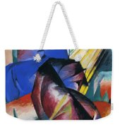 Two Horses Red And Blue 1912 Weekender Tote Bag