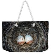 Two Junco Eggs In The Nest Weekender Tote Bag