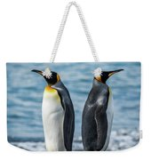 Two King Penguins Facing In Opposite Directions Weekender Tote Bag