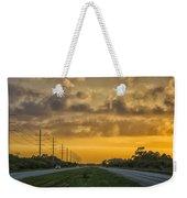 Two Lane Sunset Weekender Tote Bag