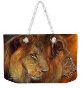 Two Lions Weekender Tote Bag