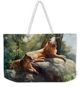 Two Lions - Forever And Always Together Weekender Tote Bag