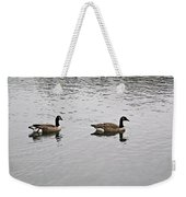 Two Lovely Canadian Geese Weekender Tote Bag