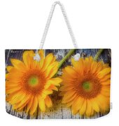Two Lovely Sunflowers Weekender Tote Bag