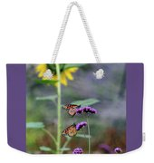 Two Monarch Butterflies And Sunflower 2011 Weekender Tote Bag