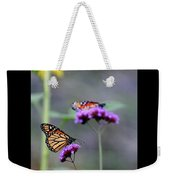 Two Monarchs On Verbena Weekender Tote Bag