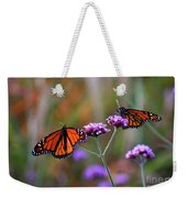 Two Monarchs Sharing 2011 Weekender Tote Bag