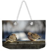 Two Mourning Doves Weekender Tote Bag