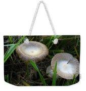 Two Mushrooms In Grass Weekender Tote Bag