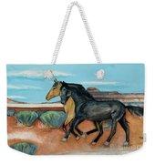 Two Mustangs Weekender Tote Bag