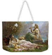 Two Nymphs By The Water Hans Zatzka Weekender Tote Bag