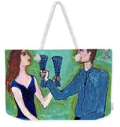 Two Of Cups Illustrated Weekender Tote Bag