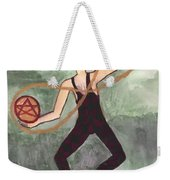 Two Of Pentacles Illustrated Weekender Tote Bag