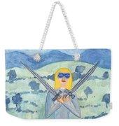Two Of Swords Illustrated Weekender Tote Bag