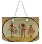 Two Ojibbeway Warriors And A Woman Weekender Tote Bag