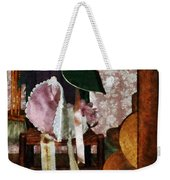 Two Old-fashioned Bonnets Weekender Tote Bag by Susan Savad
