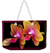 Two Orchids And A Bud Weekender Tote Bag