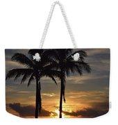 Two Palms At Dawn 18222 Weekender Tote Bag
