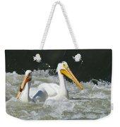 Two Pelicans At Horn Rapids Weekender Tote Bag