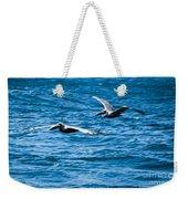 Two Pelicans Flying Weekender Tote Bag