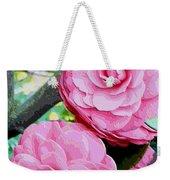 Two Pink Camellias - Digital Art Weekender Tote Bag
