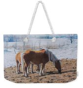Two Ponies In The Snow Weekender Tote Bag