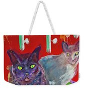 Two Posh Cats Weekender Tote Bag