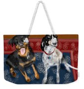 Two Pups On A Persian Carpet Weekender Tote Bag