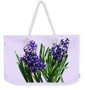 Two Purple Hyacinths Weekender Tote Bag