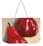 Two Red Pears Weekender Tote Bag
