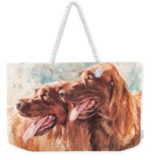 Two Redheads Weekender Tote Bag by Debra Jones