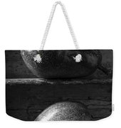 Two Ripe Pears In Black And White Weekender Tote Bag