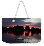 Two Rocks Sunset In Prosser Weekender Tote Bag