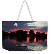 Two Rocks Sunset In Prosser Weekender Tote Bag by Carol Groenen