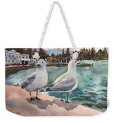 Two Seagulls By The Sea Weekender Tote Bag