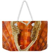 Two Seahorses On Seashell Weekender Tote Bag